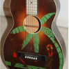 Thumbnail image for 1934 Harmony Hawaiian Stencil Parlor Guitar