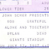 Thumbnail image for Highway 61 Revisted – Bob Dylan & The Grateful Dead (East Rutherford, NJ – July 12, 1987)
